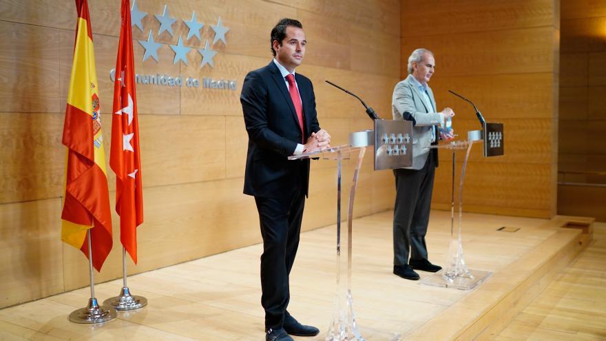 Ignacio Aguado en rueda de prensa tras Consejo de Gobierno