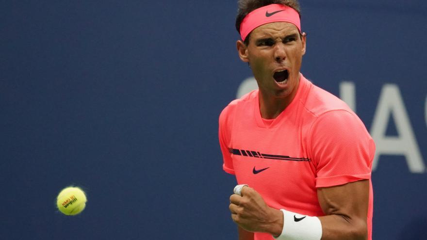 Rafael Nadal tras una victoria