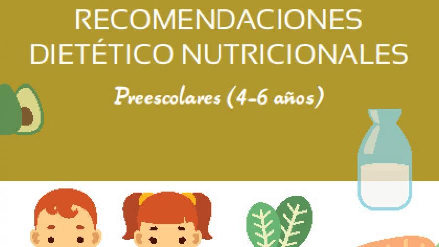 Recomendaciones dietético nutricionales. Preescolar (4-6 años)