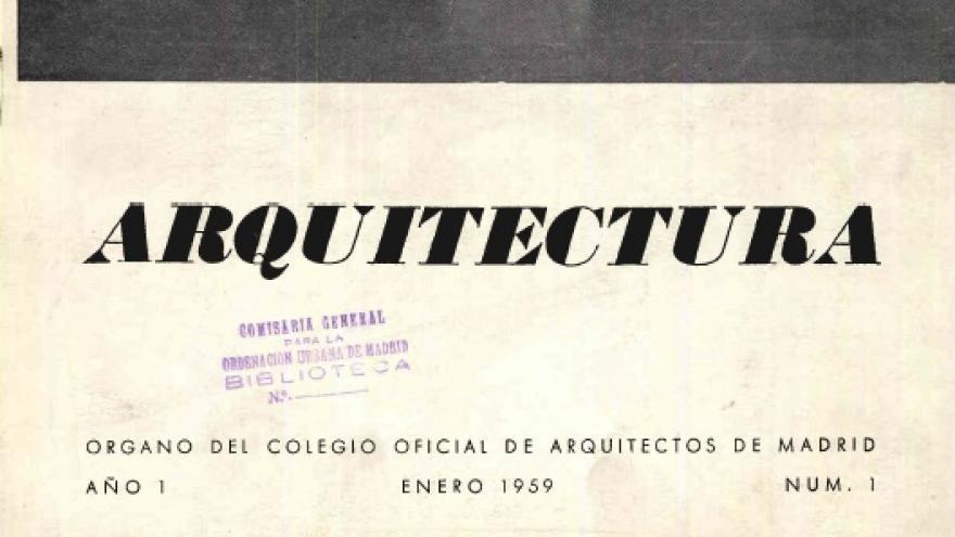 Revista de Arquitectura y Urbanismo del Colegio Oficial de Arquitectos de Madrid
