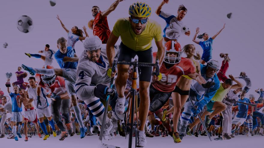 Deportistas practicando deportes