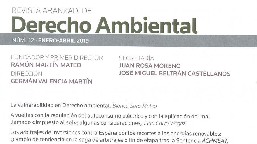 Revista  de derecho ambiental
