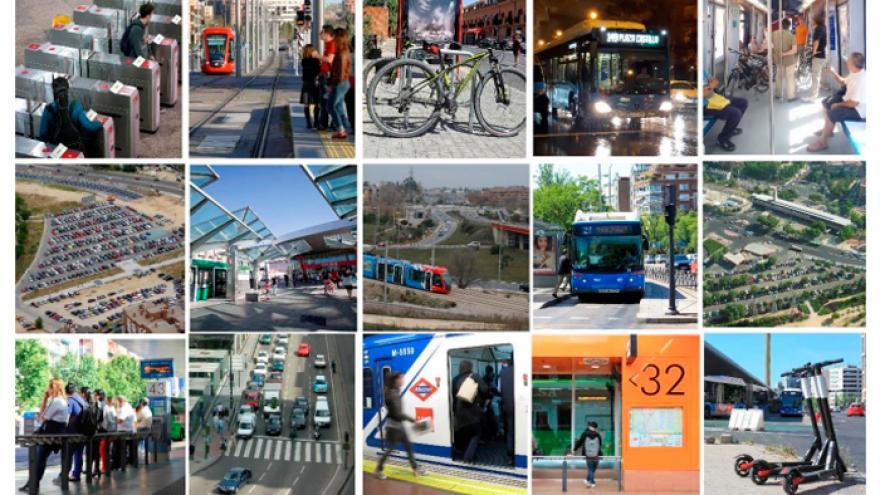 Portada del documento de síntesis de la Encuesta Domiciliaria de Movilidad de la Comunidad de Madrid 2018