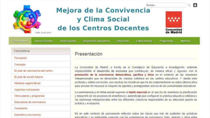 Mejora de la Convivencia y Clima Social de los Centros Docentes (sitio web)