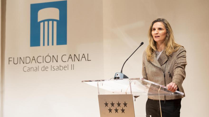 Paloma Martín en la  mesa de debate con investigadores y técnicos en el marco de la COP25