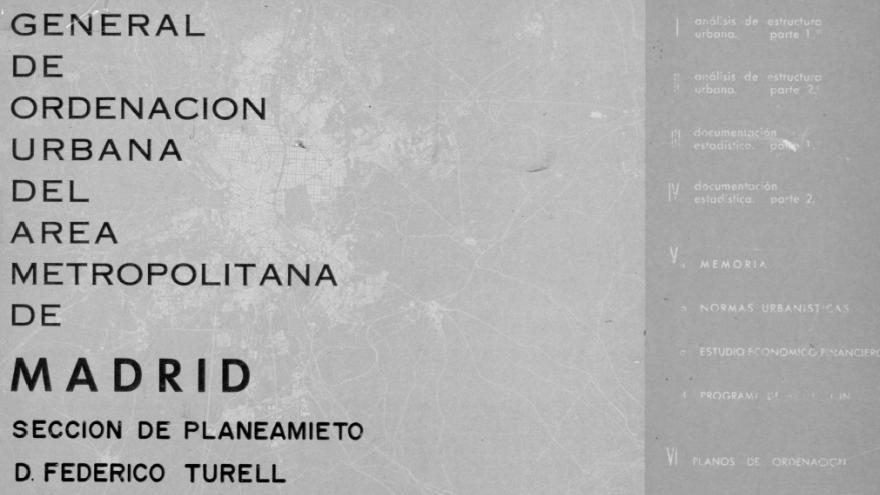 Plan General Ordenación Urbana Madrid 1961
