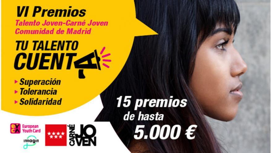 Cartel oficial de los Premios Talento Joven