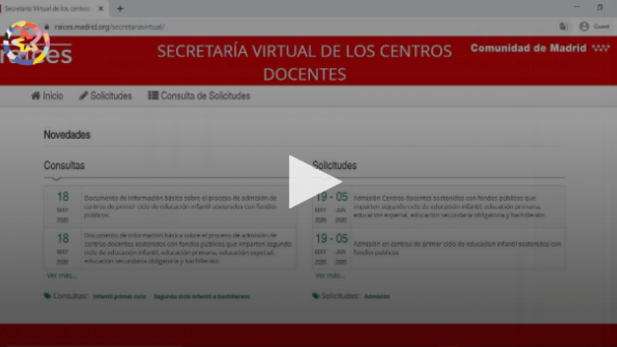 Vídeo explicativo del acceso a la Secretaría Virtual