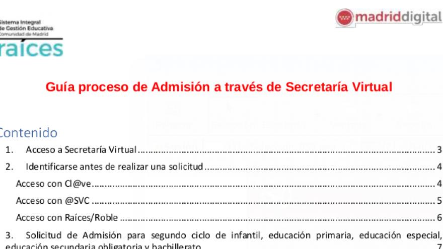 Guía de uso de secretaría virtual