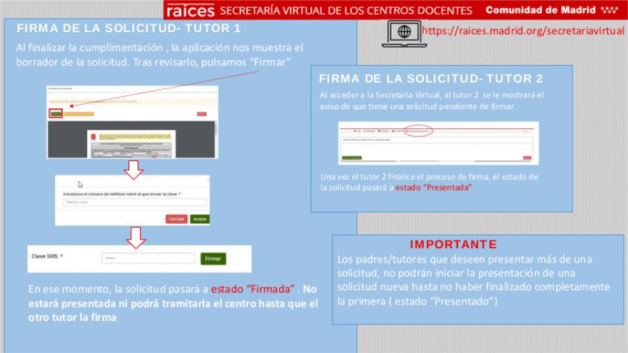 Breve infografía acerca de cómo firmar la solicitud a la Secretaría Virtual