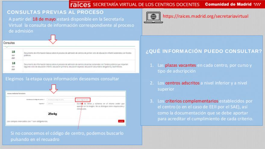 PDF de ayuda con las consultas previas al proceso de admisión en Secretaría Virtual
