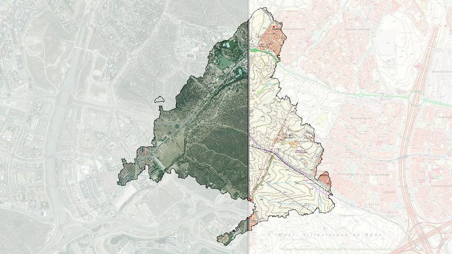 Compara mapas y fotos aéreas