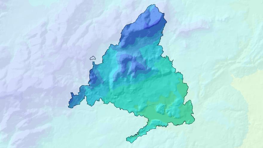 Mapas del medio ambiente en la Comunidad de Madrid