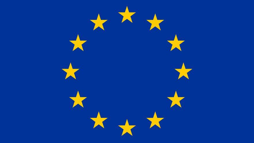 La bandera oficial de la Unión Europea