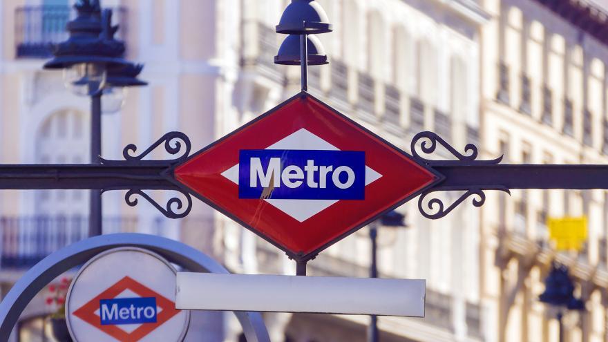 Una boca del Metro de Madrid