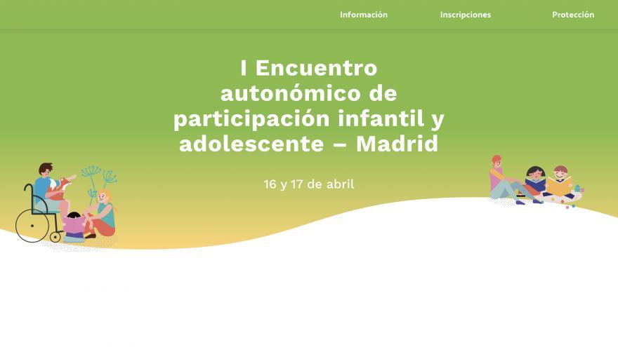 Página web del I Encuentro de participación infantil y adolescente