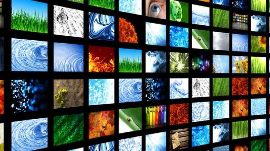 Panel de pantallas de televisión