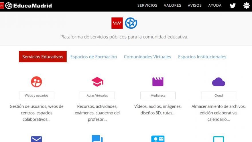 La Comunidad de Madrid estrena el curso con una nueva web educativa para afrontar los retos provocados por el COVID-19