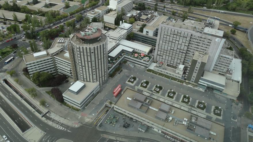 Hospital La Paz vista aérea