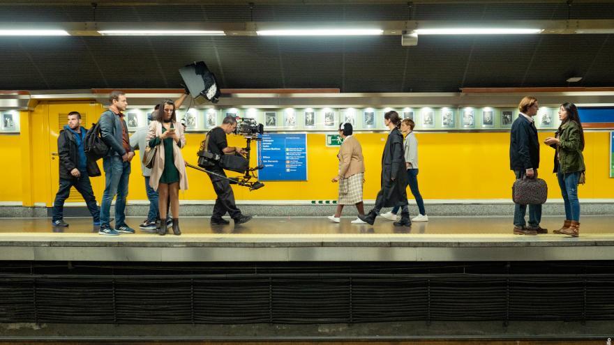 Rodaje en andén del metro