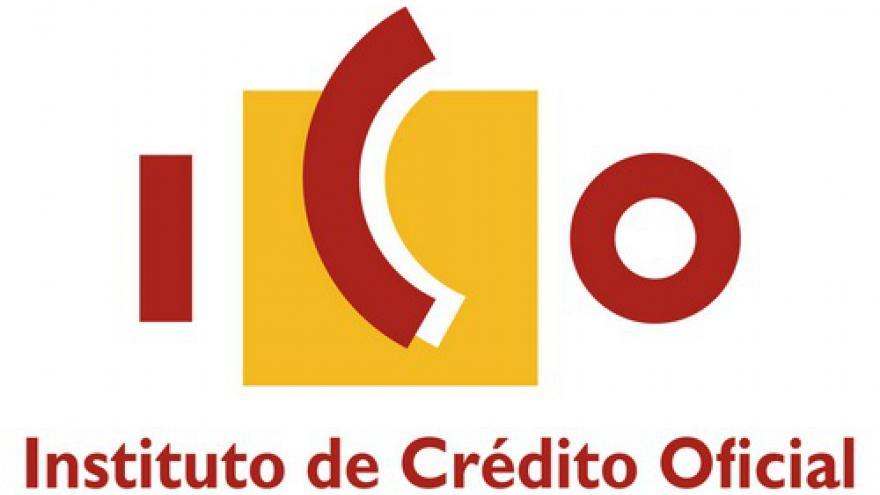 Logotipo con el texto ICO (Instituto de Crédito Oficial)