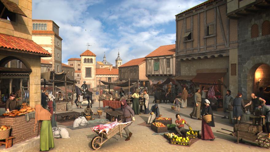 Ilustración del mercado