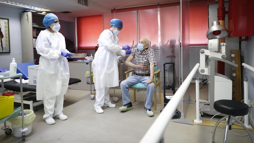 Primer vacunado en Madrid
