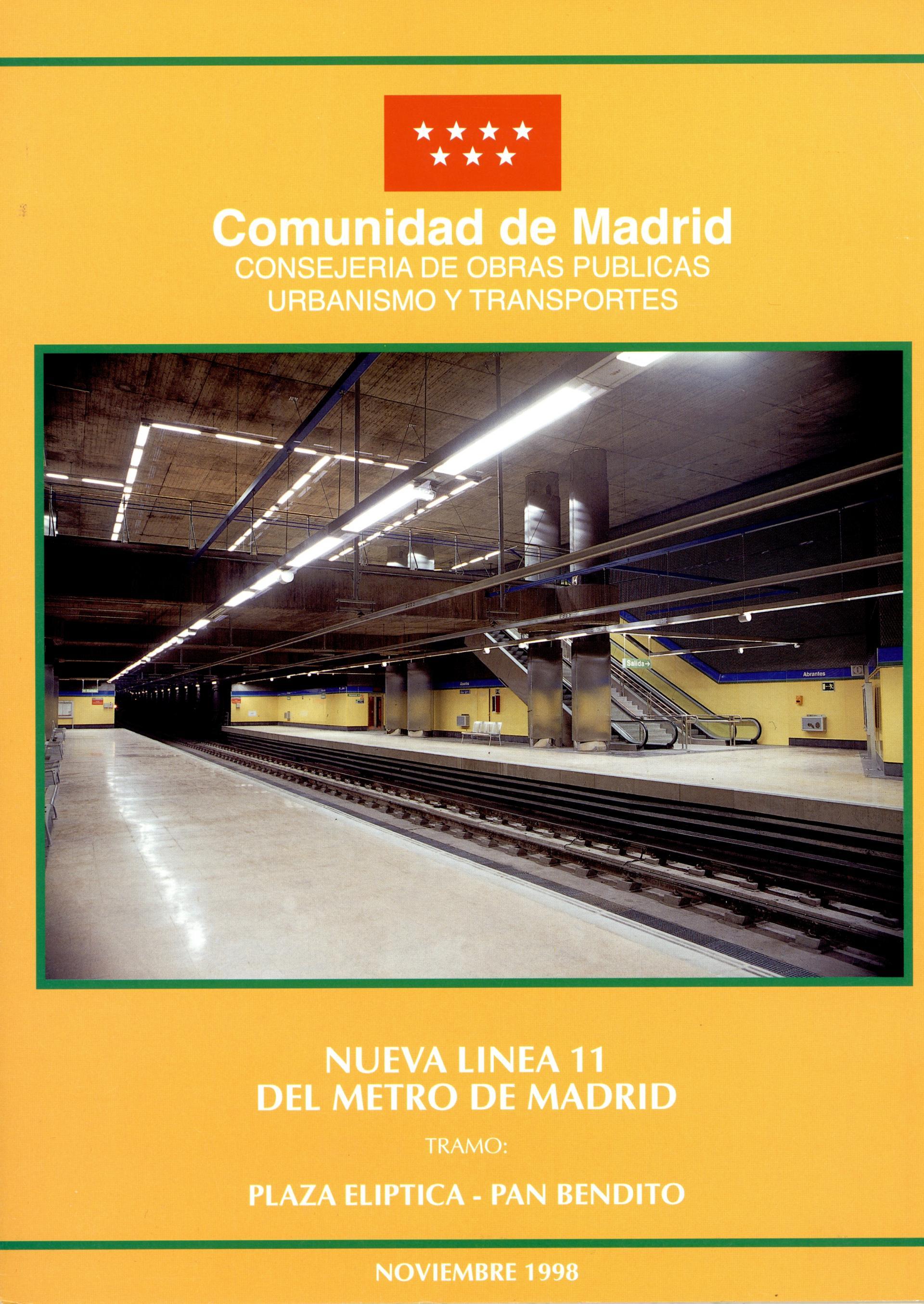 Carátula folleto L11 Plaza Elíptica-Pan Bendito