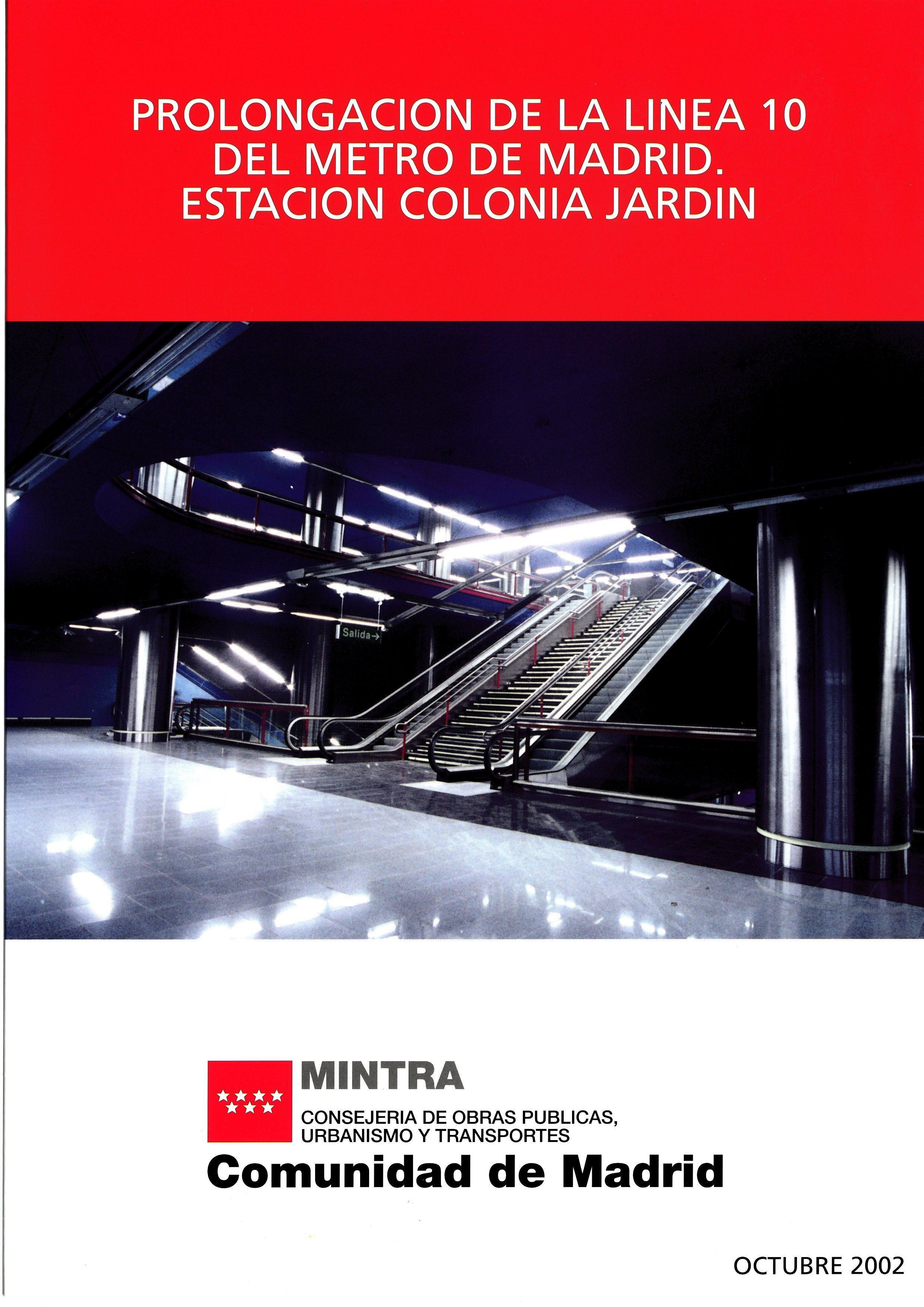 Carátula folleto estación Colonia Jardín