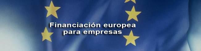 Bandera de la Unión Europea con nombre del tipo de financiación
