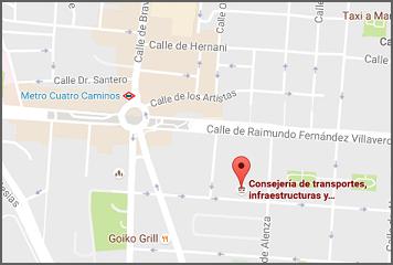 Oficinas de venta de cartografía en c/ Maudes, 17