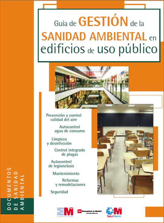Portada de la publicación Guía de gestión de la sanidad ambiental en edificios de uso público