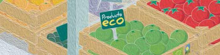 Imagen de banastas de productos ecológicos