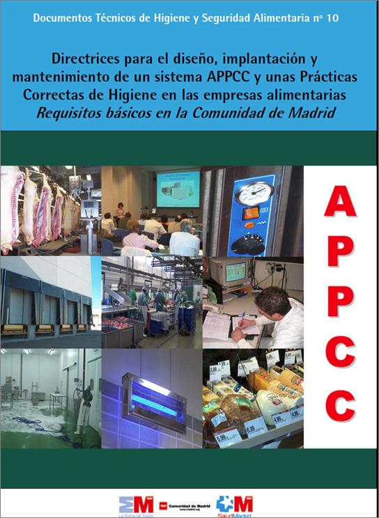 Portada de la publicación sobre las Directrices del sistema APPCC