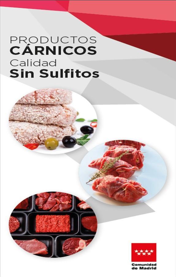 Portada del triptico: Productos cárnicos, calidad sin sulfitos