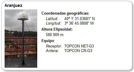 Estaciones Base GPS Aranjuez