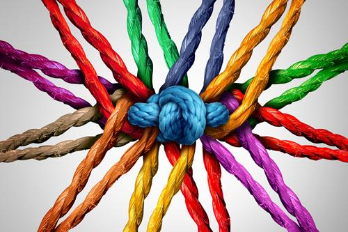 Imagen ilustrativa de una red de colores