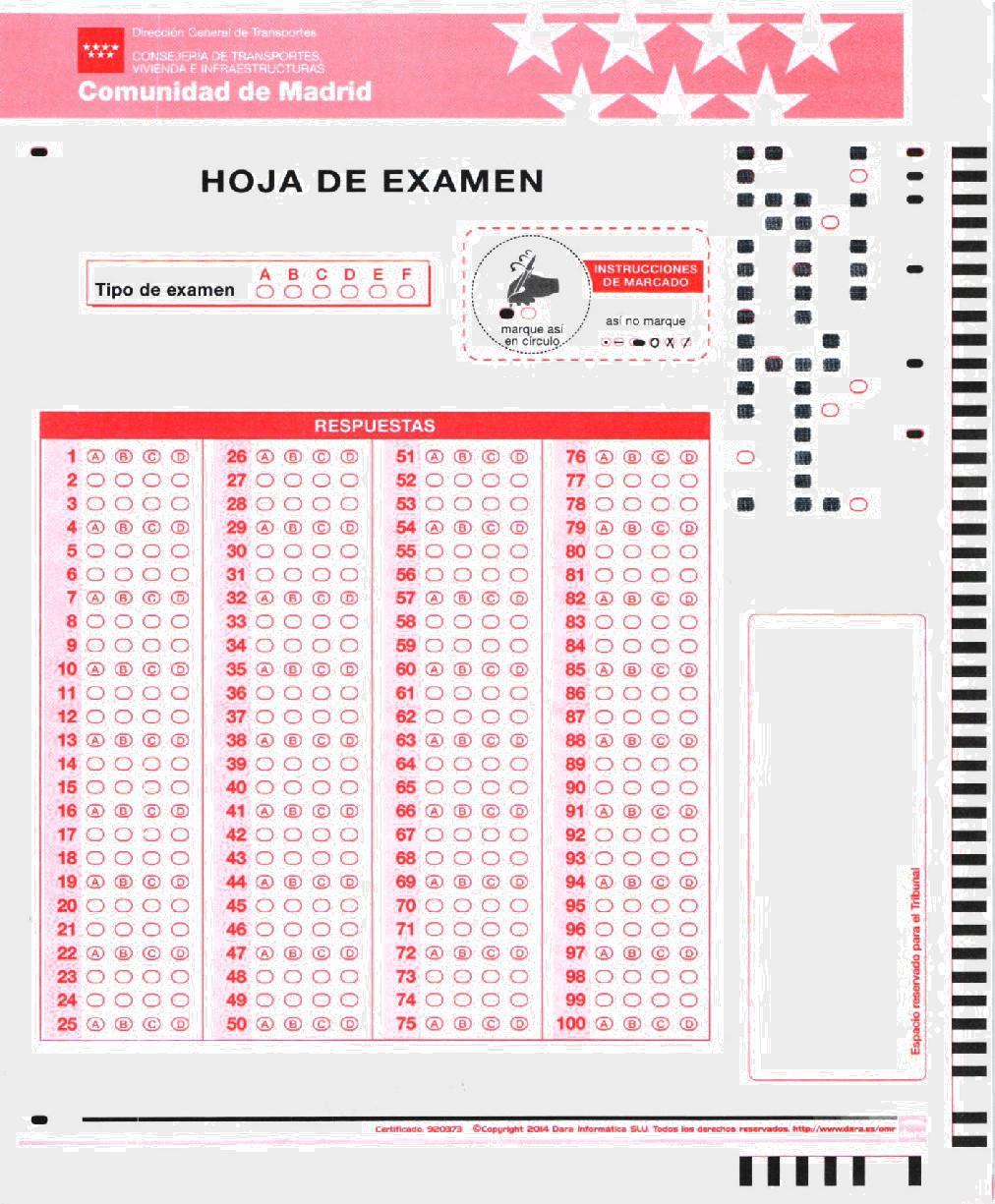 Hoja de Examen pruebas CAP