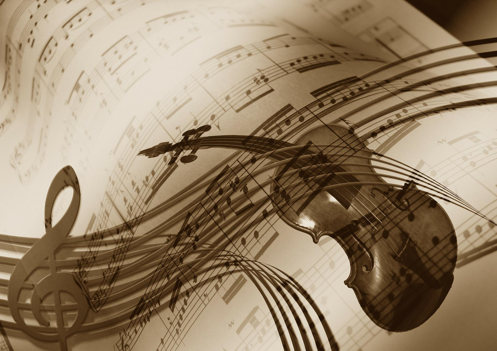 Violín sobre partitura