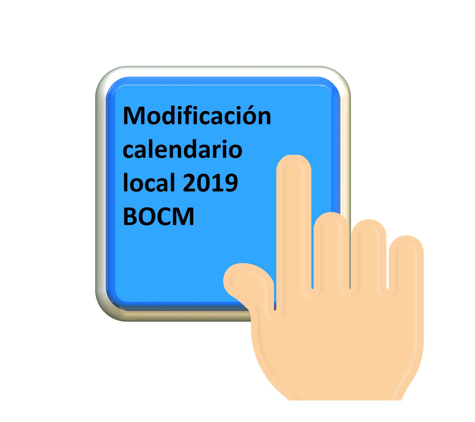 Modificación calendario local 2019