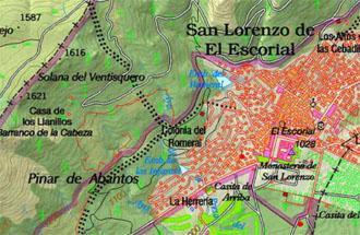 Mapa del Centro de educación ambiental Arboreto Luis Ceballos