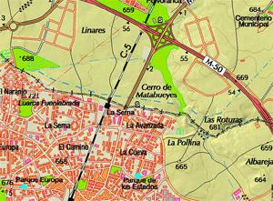 Mapa del Centro de educación ambiental Bosque Sur