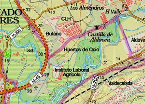 Mapa del Centro de educación ambiental Caserío de Henares