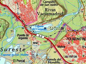 Mapa del Centro de educación ambiental El Campillo