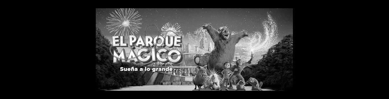 imagen en la que se ven a los personajes animados de la película El Parque Mágico