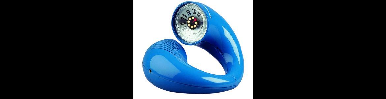 Radio con forma de auricular telefónico