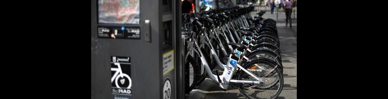 Parking de bicicletas eléctricas en Madrid