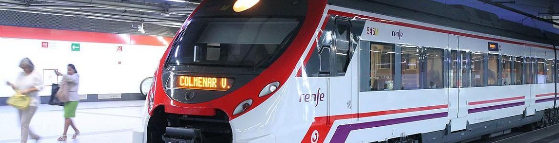 Estación y tren de Cercanías de Madrid