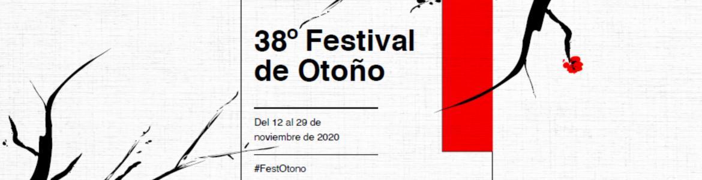 Dibujo de árboles con el anuncio en texto del Festival de Otoño 2020