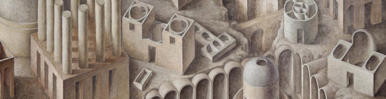 Dibujo de arquitecturas a modo de laberinto
